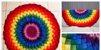 Mandala Entrelac Blanket Free Knitting Pattern