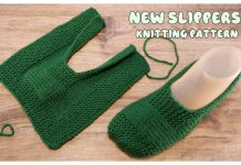 One Piece New Slippers Free Knitting Pattern + Video