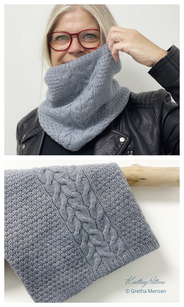 Rocky Cliffs Cowl Free Knitting Pattern by 12/31/2020