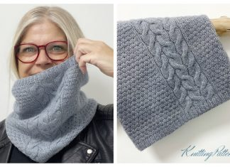 Rocky Cliffs Cowl Free Knitting Pattern by 12/31/2020