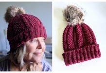 Seed Stitch Ribbed Hat Free Knitting Pattern