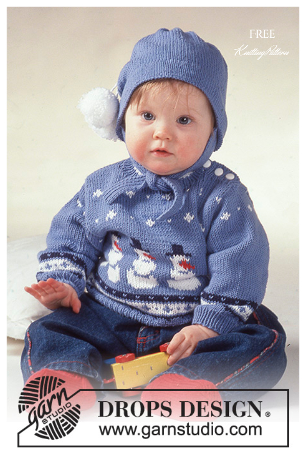 Frosty Snowman Sweater Free Knitting Patterns