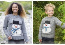 Snowman Sweater Free Knitting Patterns