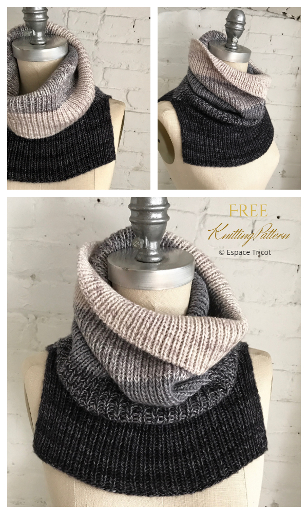 Flying Solo Cowl Free Knitting Patterns