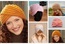 Knit Turban Hat Free Knitting Pattern