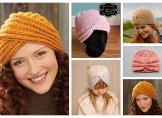 Knit Turban Hat Free Knitting Pattern