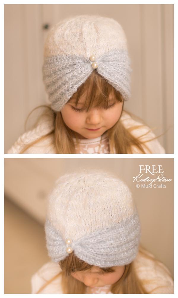 Turban Hat Free Knitting Pattern
