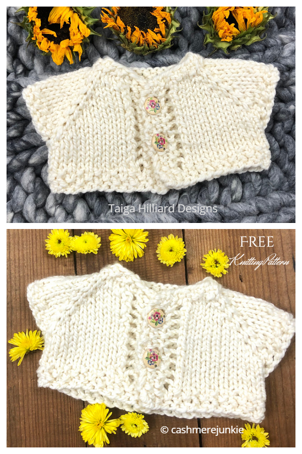 Wee Too Sweet  Baby Cardigan Free Knitting Patterns