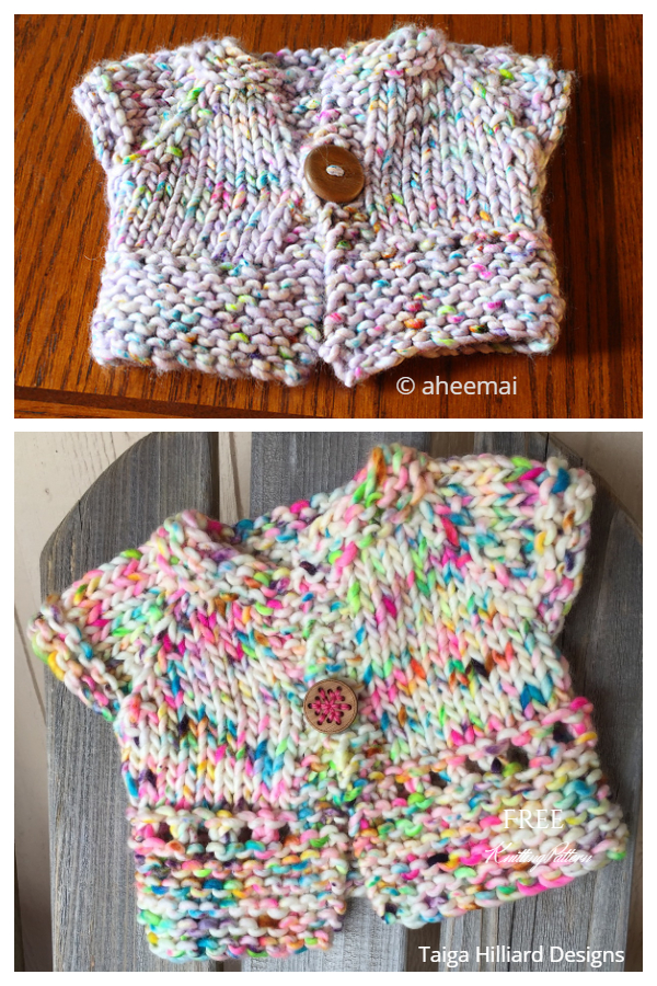Wee Cupcake Baby Cardigan Free Knitting Patterns