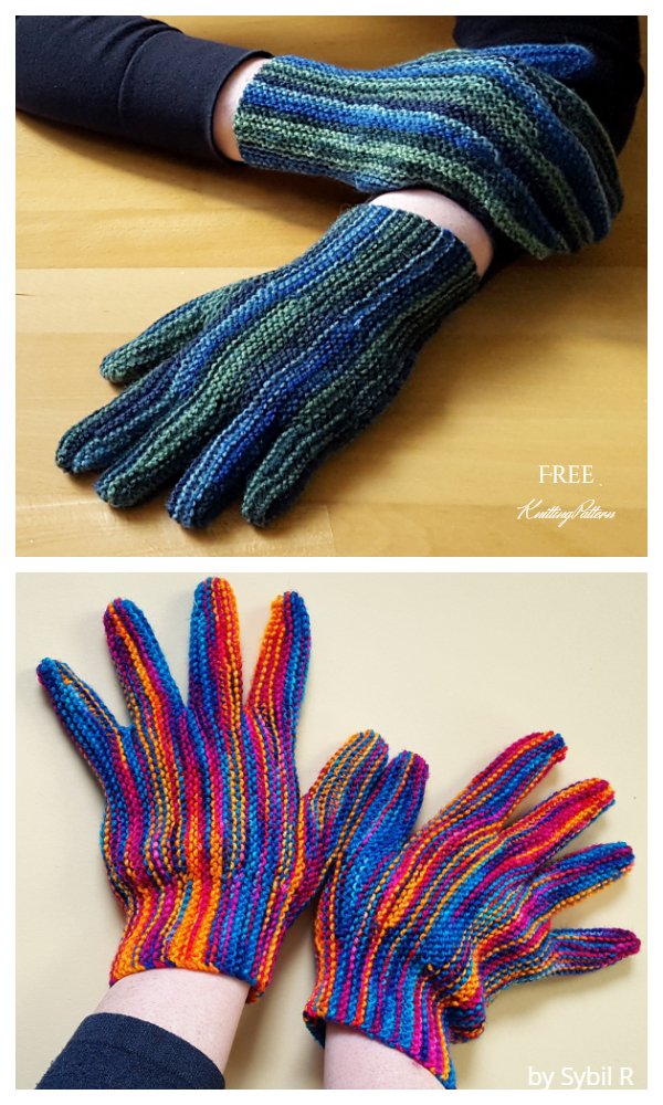 All Fingers and Thumbs Gloves Free Knitting Patterns