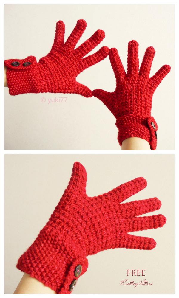 All Fingers Ringwood Gloves Free Knitting Patterns
