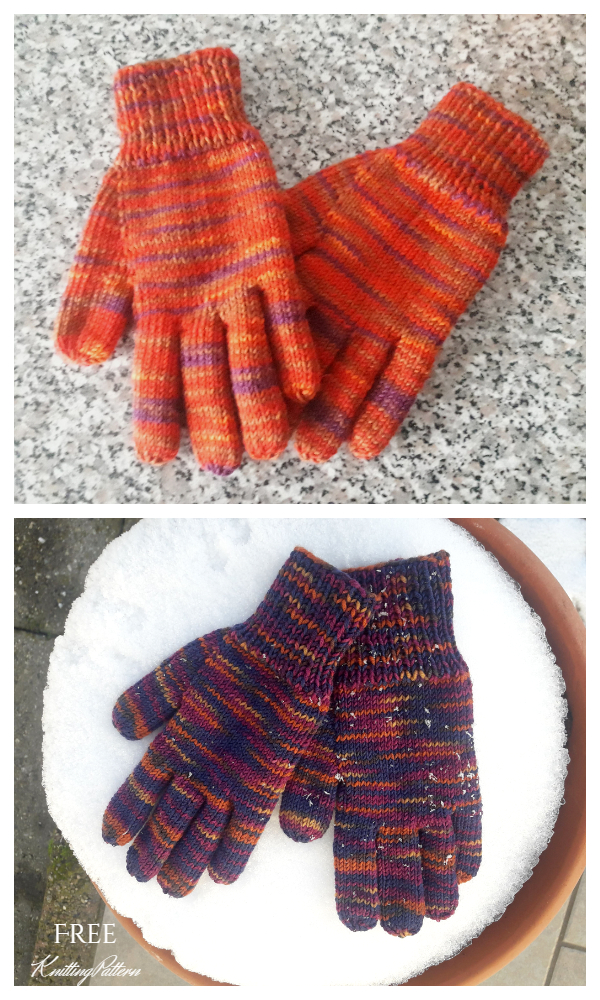 Easy Peasy All Fingers Gloves Free Knitting Patterns