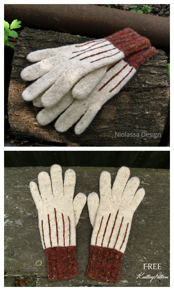 Tweed All Fingers Gloves Free Knitting Patterns
