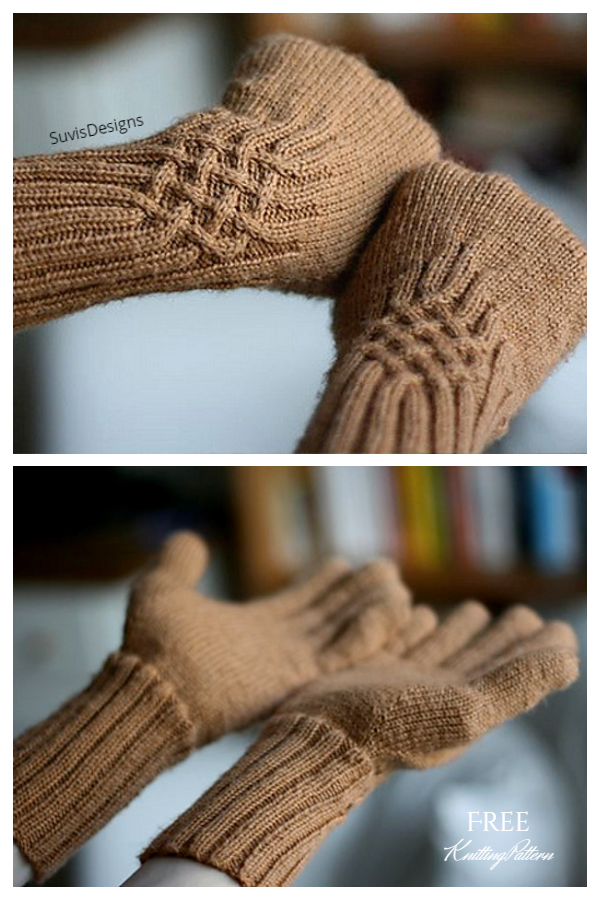 All Fingers Knotty Gloves Free Knitting Patterns