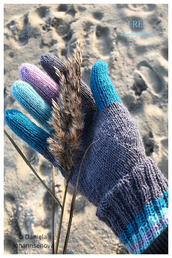 Colfin All Fingers Gloves Free Knitting Patterns