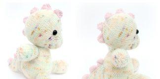 Amigurumi Baby Dinosaur Toy Free Knitting Pattern