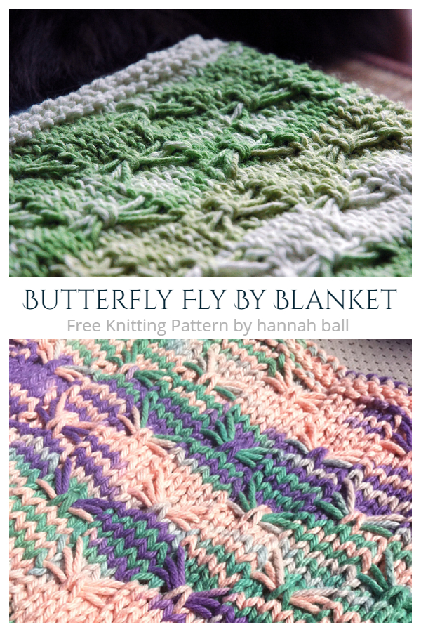 Butterfly Fly By Blanket Free Knitting Patterns