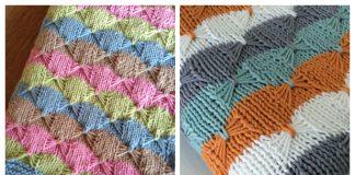 Butterfly Stitch Blanket Free Knitting Patterns