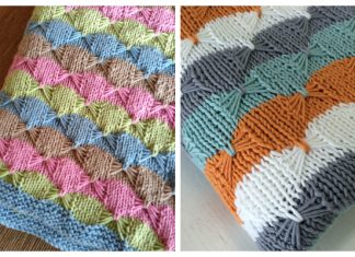 Butterfly Stitch Blanket Free Knitting Patterns