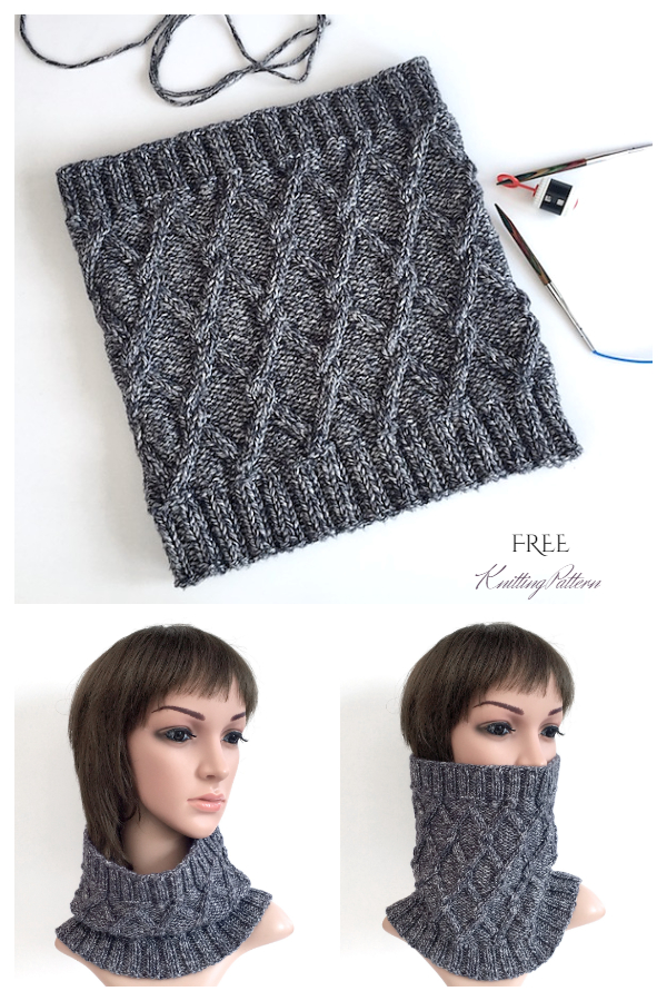 Knit Travelling Cables Cowl Free Knitting Patterns