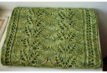 Column of Leaves Scarf Free Knitting Pattern