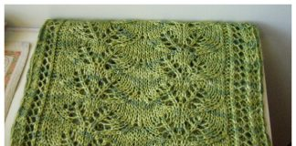 Column of Leaves Scarf Free Knitting Pattern
