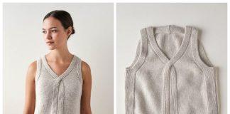 Criss Cross Sleeveless Top Free Knitting Pattern