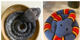 Easy Striped Stockinette Snake Free Knitting Patterns