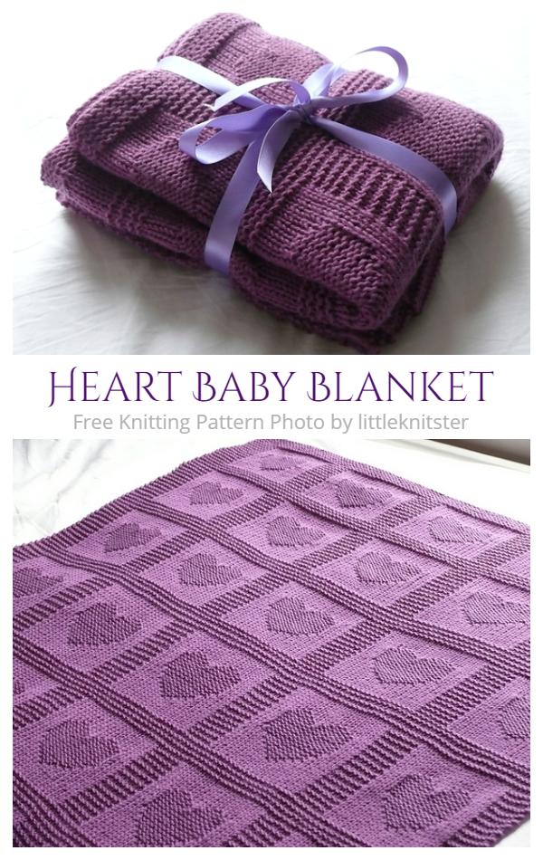 Valentine Heart Baby Blanket Free Knitting Patterns