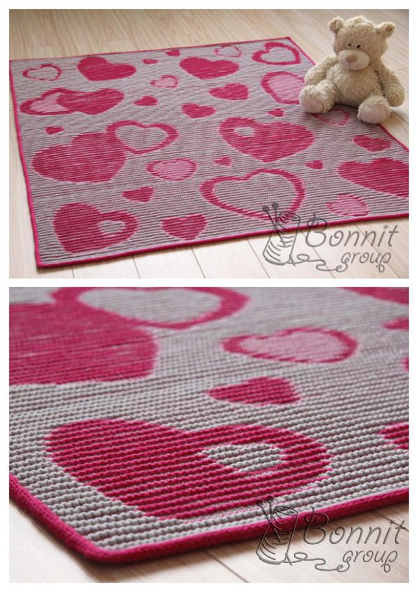 Valentine Heart Blanket Knitting Patterns