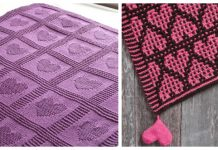 Valentine Heart Blanket Free Knitting Patterns