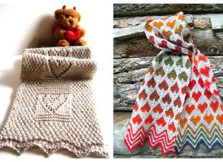 Heart Cable Scarf Free Knitting Patterns