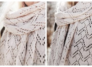 Lacy Heart Scarf Knitting Patterns