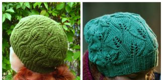 Leafy Hat Free Knitting Patterns