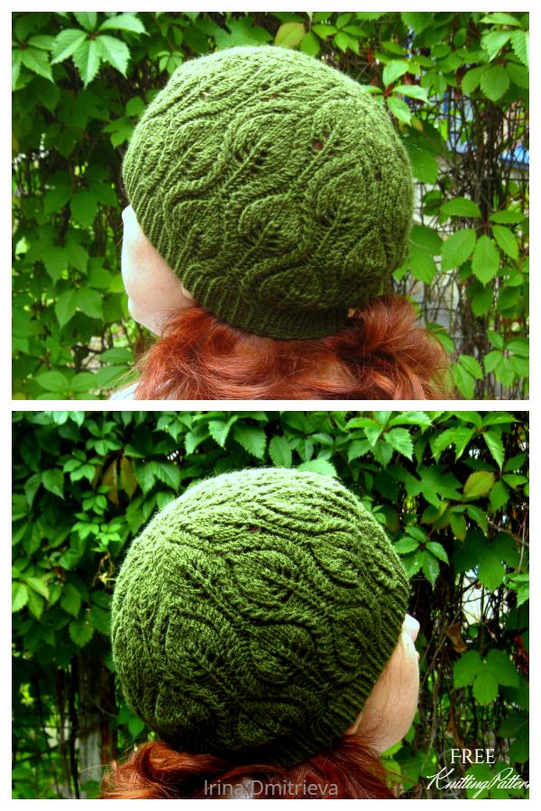 Leafy Foliage Hat Free Knitting Patterns