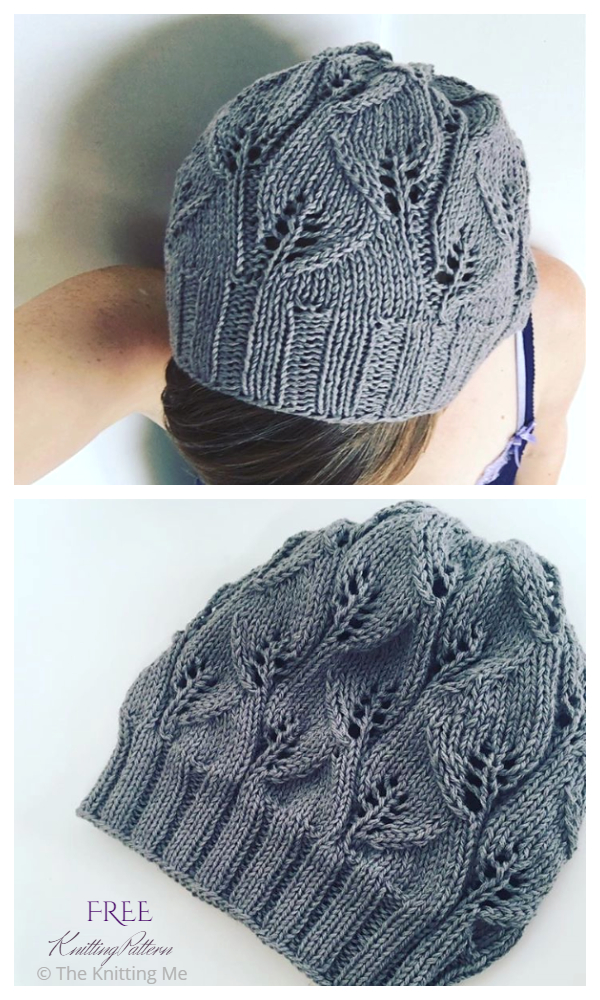 The Leafy Beanie Hat Free Knitting Patterns