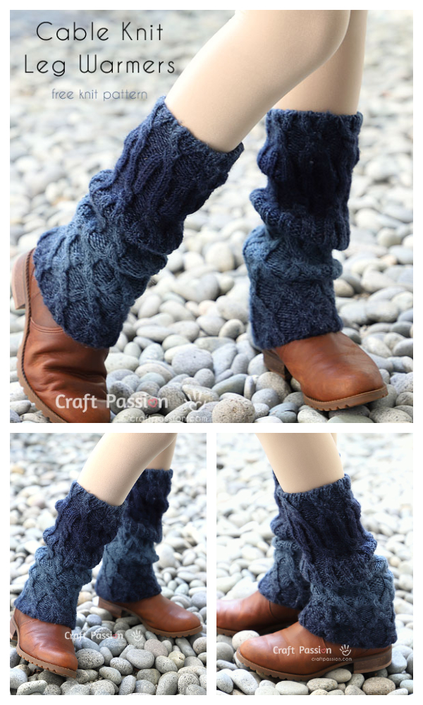 Cable Knit Bacak Isıtıcıları Free Knitting Patterns