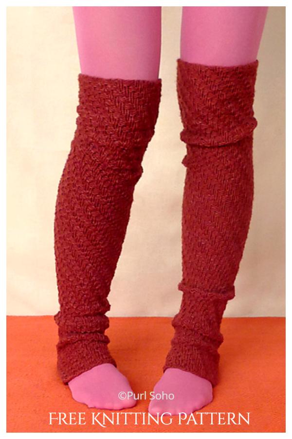 Spiral Ribana Bacak Isıtıcıları Serbest Örgü Modelleri