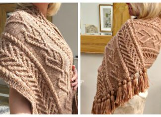 Queen of Hearts Stole Wrap Shawl Free Knitting Pattern