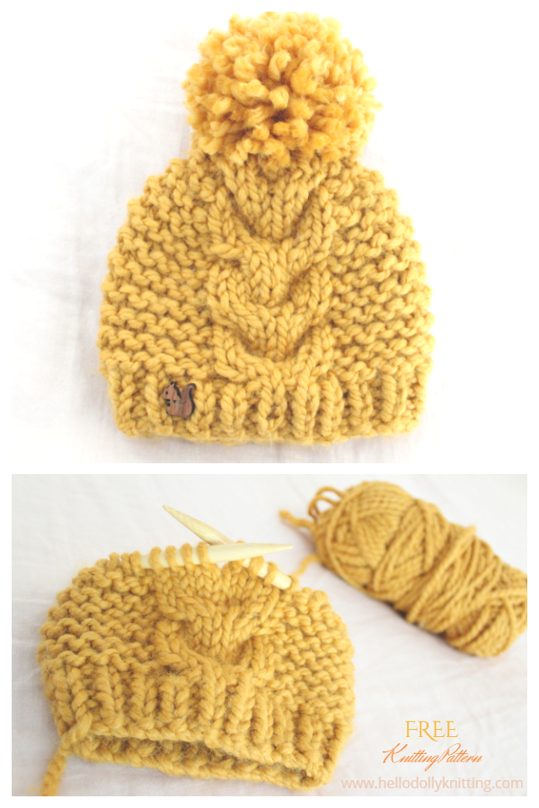Super Bulky Baby Cable Hat Free Knitting Patterns