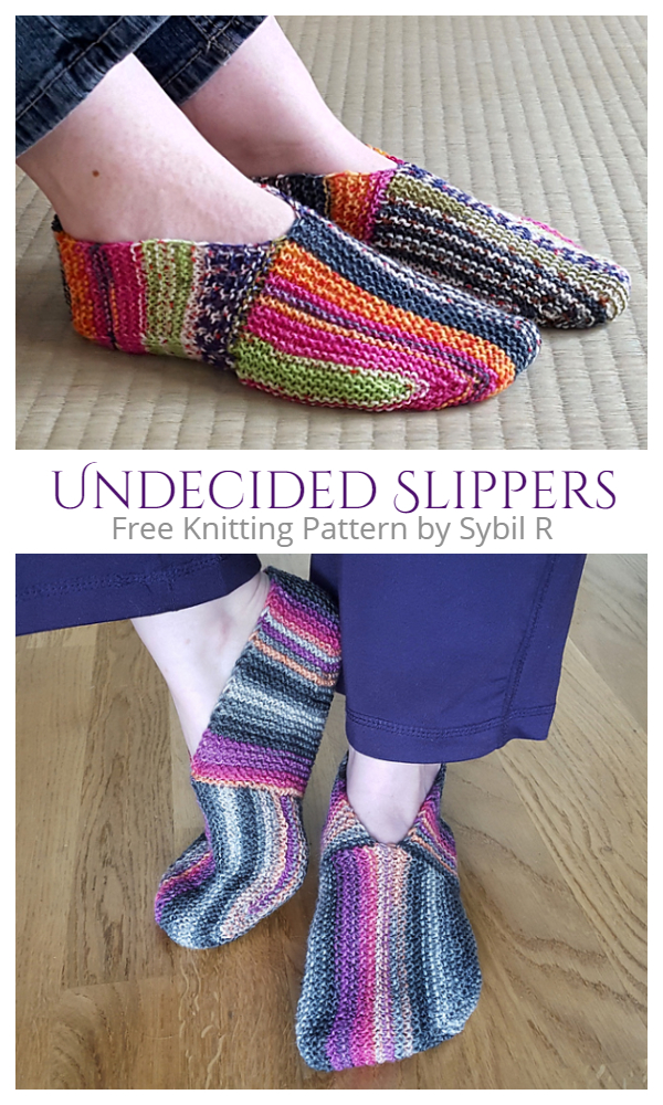 Unique Undecided Slippers Free Knitting Patterns