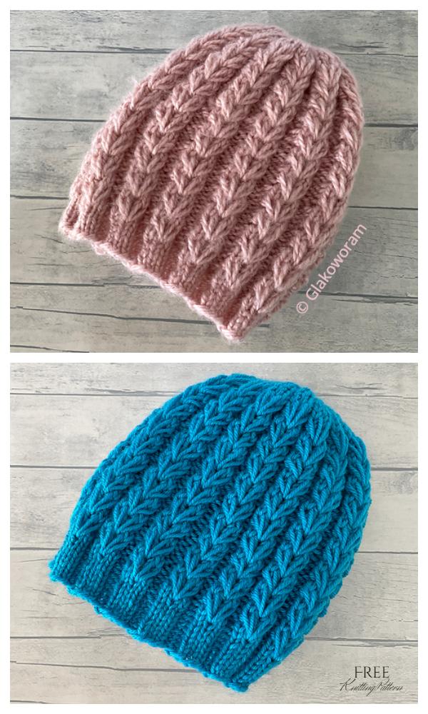 Kışlık Aşk Şapkası Ücretsiz Örgü Modeli