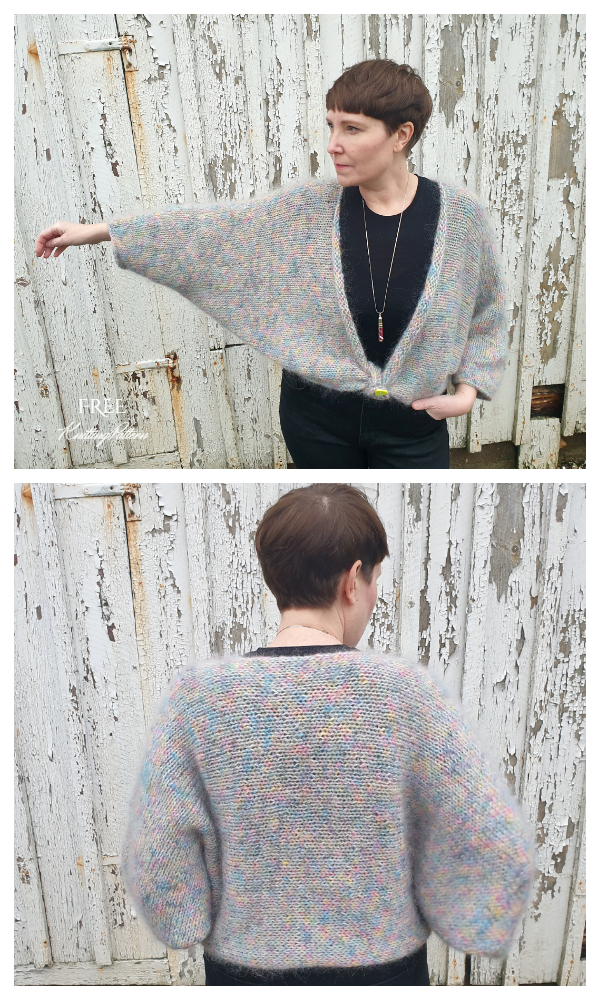 From Right To Left Women Shrug Cardigan Free Knitting Patterns