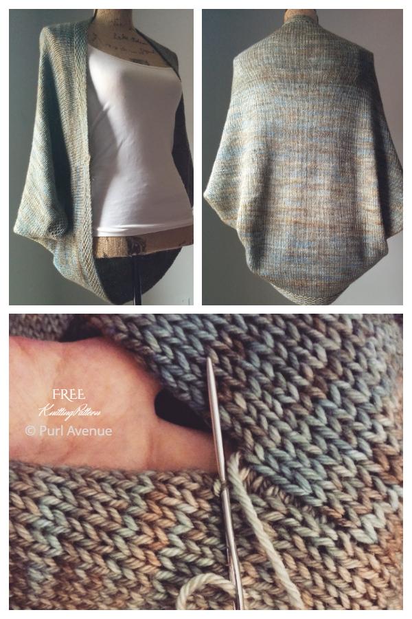 Simple Women Shrug Cardigan Free Knitting Patterns