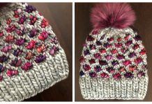 Lotus Flower Beanie Hat Knitting Pattern