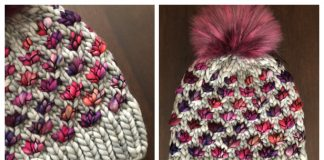 Lotus Flower Beanie Hat Knitting Pattern