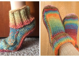 Non-Felted Slippers Free Knitting Patterns