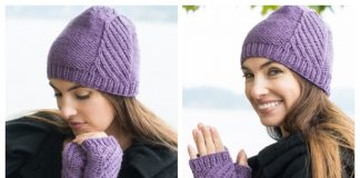 Birch Creek Fingerless Mitts & Hat Free Knitting Pattern