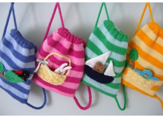 Fun Kids Buddy Bags Knitting Pattern
