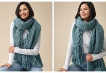 Knit Cable Scarf Free Knitting Patterns